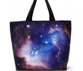 Blue Fantasy Starry Sky Fashion Shoulder Bag For Women