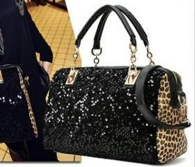 Nice Leopard Sparking Handbag