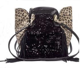 Sexy Sequined Leopard Tassels Handbags Shoulder Bag