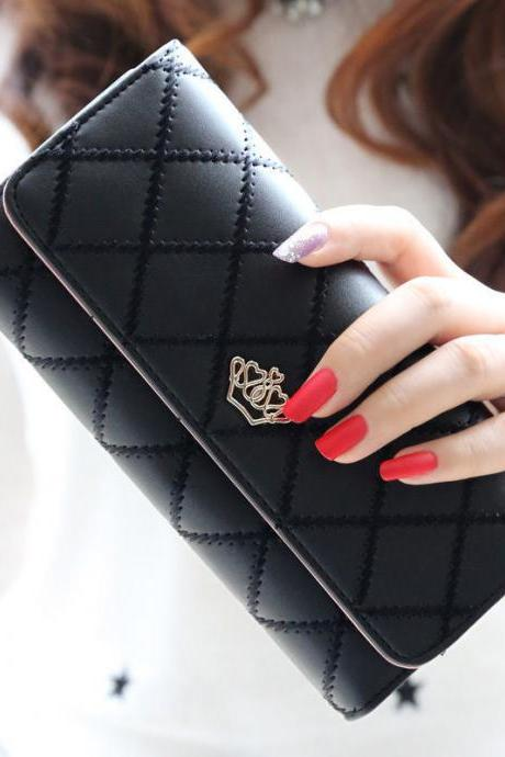 Fashion Lady Women Clutch Long Purse Leather Wallet Card Holder Handbag Bags
