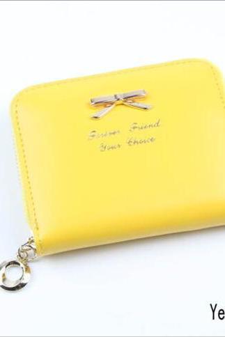 New Hot Durable Womens Fashion Mini Faux Leather Lady Purse Wallet Card Holders