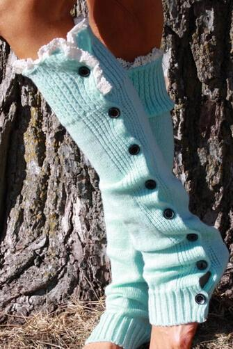 Women Soft Crochet Knitted Lace Trim Boot Cuffs Toppers Leg Warmers Winter Socks