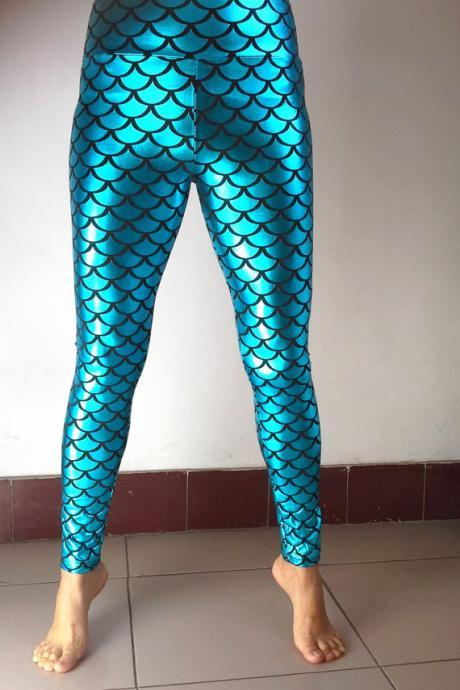Mermaids Woman Leggings- Printed Leggings- Leggings- Pants- Tights-